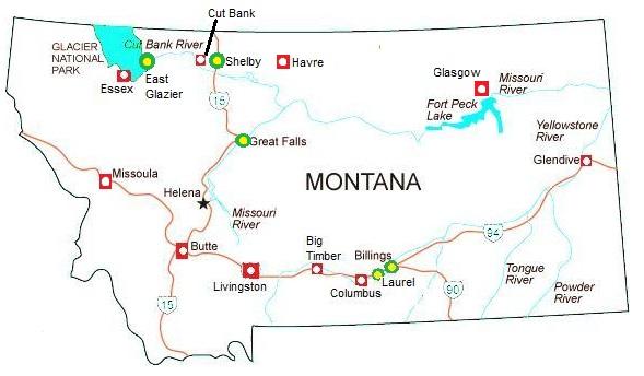 Railfan Motels Montana