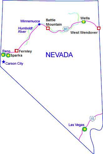 Wells Nevada Map Railfan Motels   Nevada